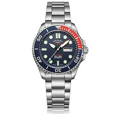 Rotary Super 7 Scuba Diver Pepsi Auto Navy Blue Dial Steel Bracelet Watch S7S004