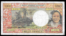 French Pacific Territories 1000 Francs Nd 1996 P2h @ F-Vf ; Ref. #234