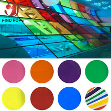 Transparent Colourful Window Film Stain Glass Tint Self Adhesive Decor Roll DIY