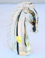 HUGE heavy Horse Italian Art Glass Abstract Face Sculpture SACCA MURANO