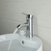 Chrome Bathroom Vanity Basin Sink Mixer Faucet Toliet Single Handle Hole Taps