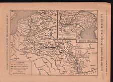 WWI Map Carte Suisse France Italy Trentino Belgique Lorraine 1918 ILLUSTRATION