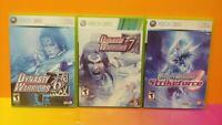 Dynasty Warriors 6, 7, + Strikeforce - XBOX 360 Games Rare Lot Tested Working