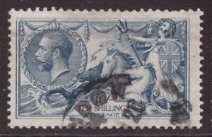King George V 1918 Bradbury 10 shillings Seahorse SG 417 CDS cat £175 (crease)