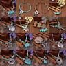 Boho Tibetan Turquoise Beads Pendant Necklace Women Jewelry Vintage Acces