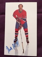 Mike McPhee Montreal Canadiens Autographed Signed Team Issued Postcard