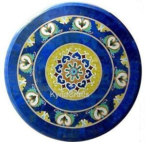 36 x 36  Inches Marble Dining Table with Mosaic Art Center Table for Home Decor
