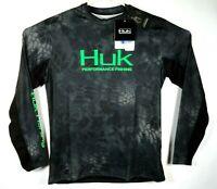 New Huk Mens Sz S Kryptek Icon Performance Fishing Tee L/S Shirt NWT