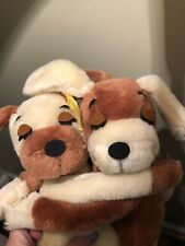 Vintage Dakin 1976 Plush Hugging Dogs Puppy Stuffed Animal Toy Beagles Hounds 9""