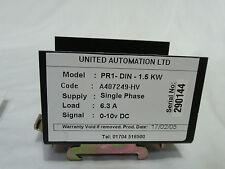United Automation PR1-DIN-1.5KW Single Phase Regulator 0-10 VDC A407249-HV