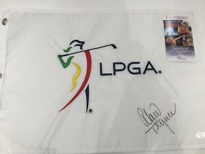 LEXI THOMPSON signed LPGA embroidered golf flag JSA PROOF   FREE SHIPPING