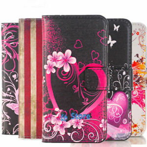 Fashion Leather Design Wallet Book Kickstand Cards Case Cover for Samsung Huawei