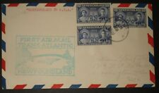 Newfoundland To Usa First Airmail Trans-Atlantic Paa June 28 1939 Cover