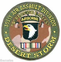 """ARMY 101ST AIRBORNE DIVISION DESERT STORM  RIBBON  4"""" EMBROIDERED MILITARY PATCH"""