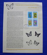 Palau (186a) 1988 Butterflies 2 Souvenir Page