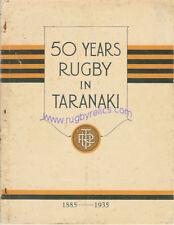 50 YEARS RUGBY IN TARANAKI ( NEW ZEALAND ) 1885 - 1935 BOOKLET **RARE**