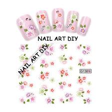 Nail art water sticker transfers-Adesivi Fiori-Ricostruzione Unghie-Gel UV-Manic