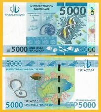 French Pacific Territories 5000 Francs p-7 2014 UNC Banknote