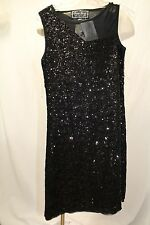 Sara Sara The Collection Bling Girls Dress Sz 16 Sequin W Mesh Sheath Black NWT