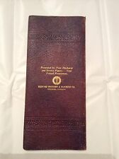 WWII 1940's Leather Document Protector Bedford Foundry Bedford Indiana
