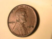 1910-P USA Lincoln Wheat Cent Original Brown AU Almost Unc One Penny Bronze Coin
