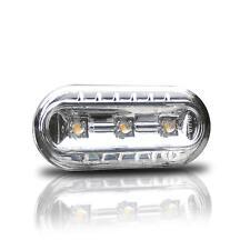 2x LED Clear Glass Side Indicator Set Chrome TÜV Free #2 VW Seat Skoda Ford
