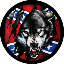 Rebel Wolf 1 Jeep Wrangler Liberty RV Trailer Camper Spare Tire Cover