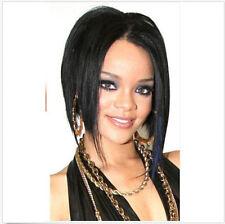 Hot Sale~ Cosplay Wig Fashion Womwn Heat Resistant Black Hair BOB Straight +CAP