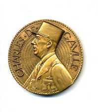 Général de Gaulle médaille bronze par De Jaeger 68 mm par / Boite