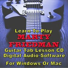 MARTY FRIEDMAN Guitar Tab Lesson CD Software - 40 Songs