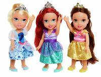 "Disney Princess Petite 6"" Dolls - Pack of 3 Ariel Cinderella Belle - Brand New"