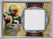 2011 Topps Five Star AARON RODGERS Green Bay Packers JUMBO JERSEY RELIC 50/88