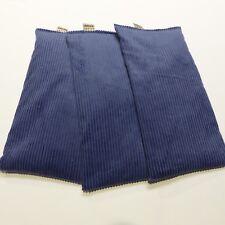 WHEAT BAGS Heat Pack WHEAT PACK 31 x 17  MARINE BLUE BULK x 3 Microwave Hot Pad
