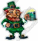 "Leprechaun Pot Of Gold Irish Beer Ale Pub Car Bumper Vinyl Sticker Decal 3.5""X5"""