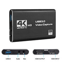 Audio Video Capture Card 4K HDMI to USB 3.0 Capture Devices for PS4 Xbox: