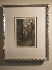 "RARE EARLY COLOUR ORIGINAL ETCHING ""SALZBURH"" SIGNED BY LUIGI KASIMIR"