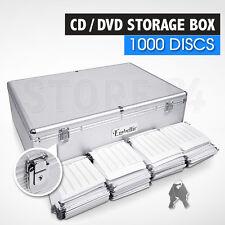 CD / DVD Storage Box Lockable Aluminium Case - 1000 Discs