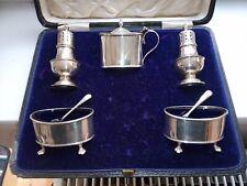 sterling silver cruet set - Birmingham 1911/12