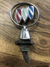 Vintage 80's OEM Buick Hood Ornament Emblem Tri Shield  Auto #7 W/ Spring & Trim