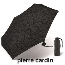 """pierre cardin Gothic Regenschirm """"Black Illumination"""" Samt Arabesken UVP 27,99€"""