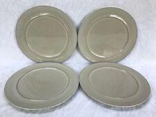 "Denby Drama Set of 4 x Dessert Salad Breakfast Plates Plate 9.25"" dia Excellent"