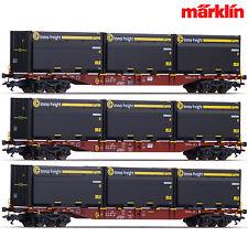 Märklin 47091 H0 Container-Tragwagen Set Sngss der DB AG ++ NEU & OVP ++