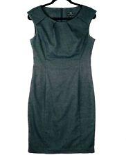 CUE Women's Size 10 Grey Sleeveless Bodycon Work Business Dress