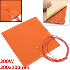 Silicone Heater Pad for 3D Printer Heated Bed Heating Mat 200x200mm 200W 12V