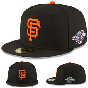 New Era San Francisco Giants Fitted Hat MLB 2002 World Series Patch Classic Cap