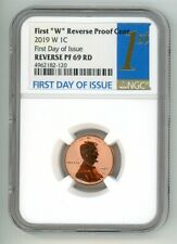 2019 W LINCOLN CENT 1C REVERSE PROOF NGC PF 69 RD FIRST DAY OF ISSUE 4962182-120