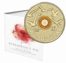 2015 $2 'C' MINTMARK - REMEMBRANCE DAY COLOURED COIN