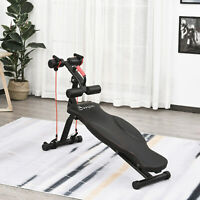 Multifunctional Sit Up Bench with Handle, Adjustable Leg Lifts for Home, Office