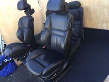 BMW E64 M6 650I COUPE (2006-2010) OEM 75K BLACK LEATHER SEATS SEAT BLACK