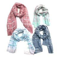 Sheer Scarf Top Fashionland Premium Soft Square Print Sheer Scarf